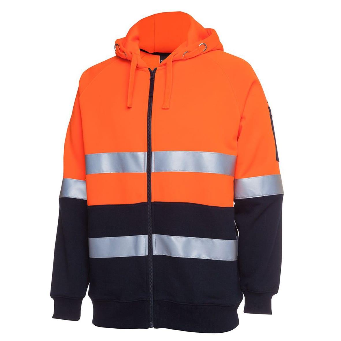 Hi vis d+n full zip fleecy hoodie