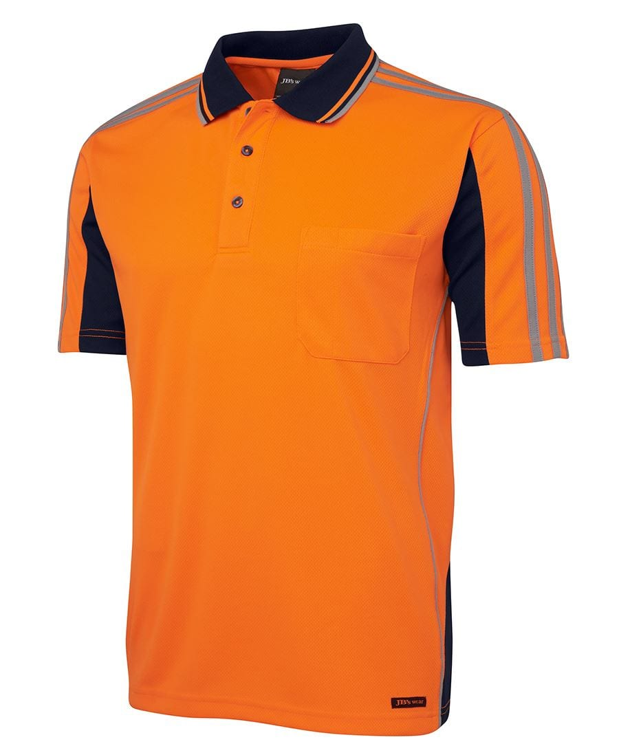6AT4S Hi Vis S/S Arm Tape Polo