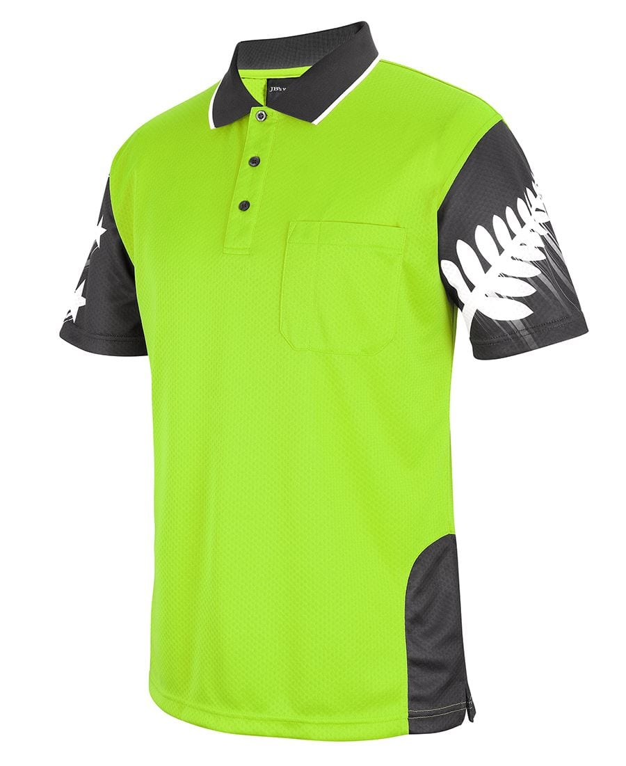 6HNF Hi Vis NZ Fern Polo
