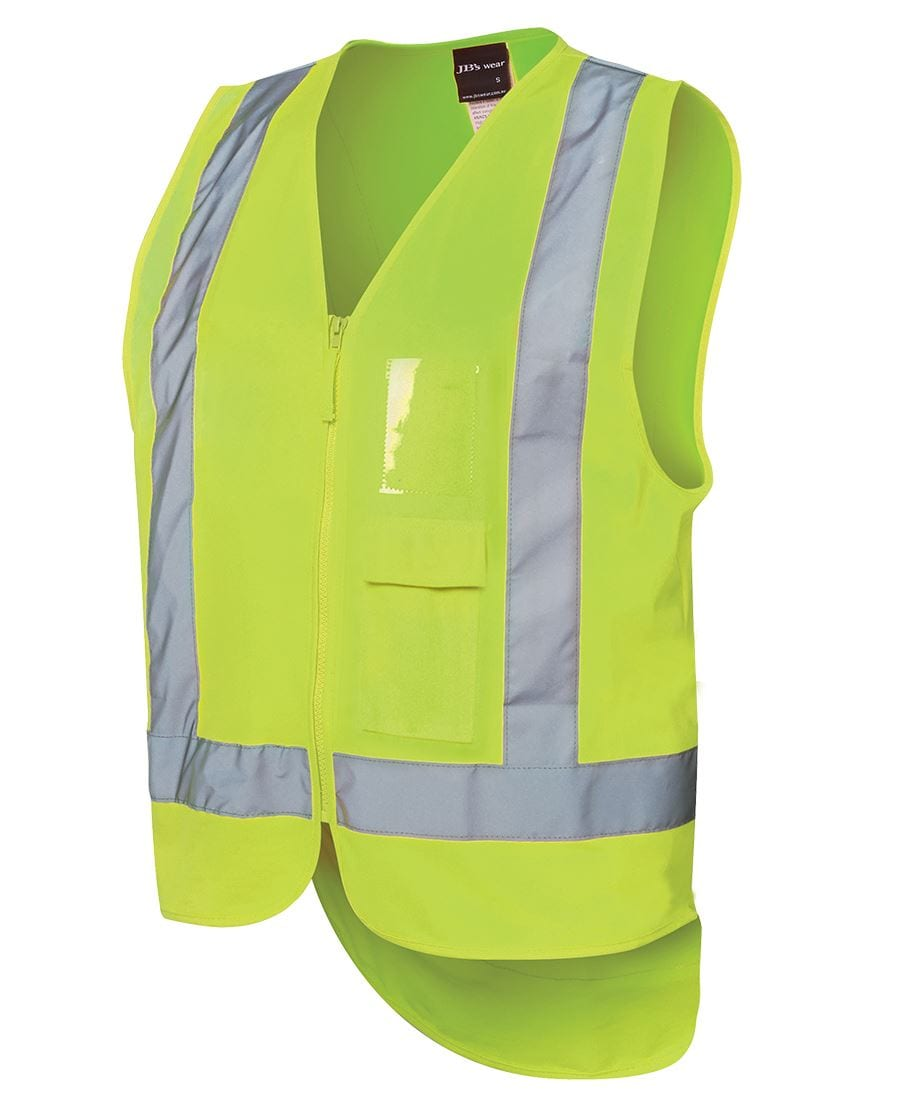 6DNDV Hi Vis Zip Drop Tail H Pattern (D+N) Vest