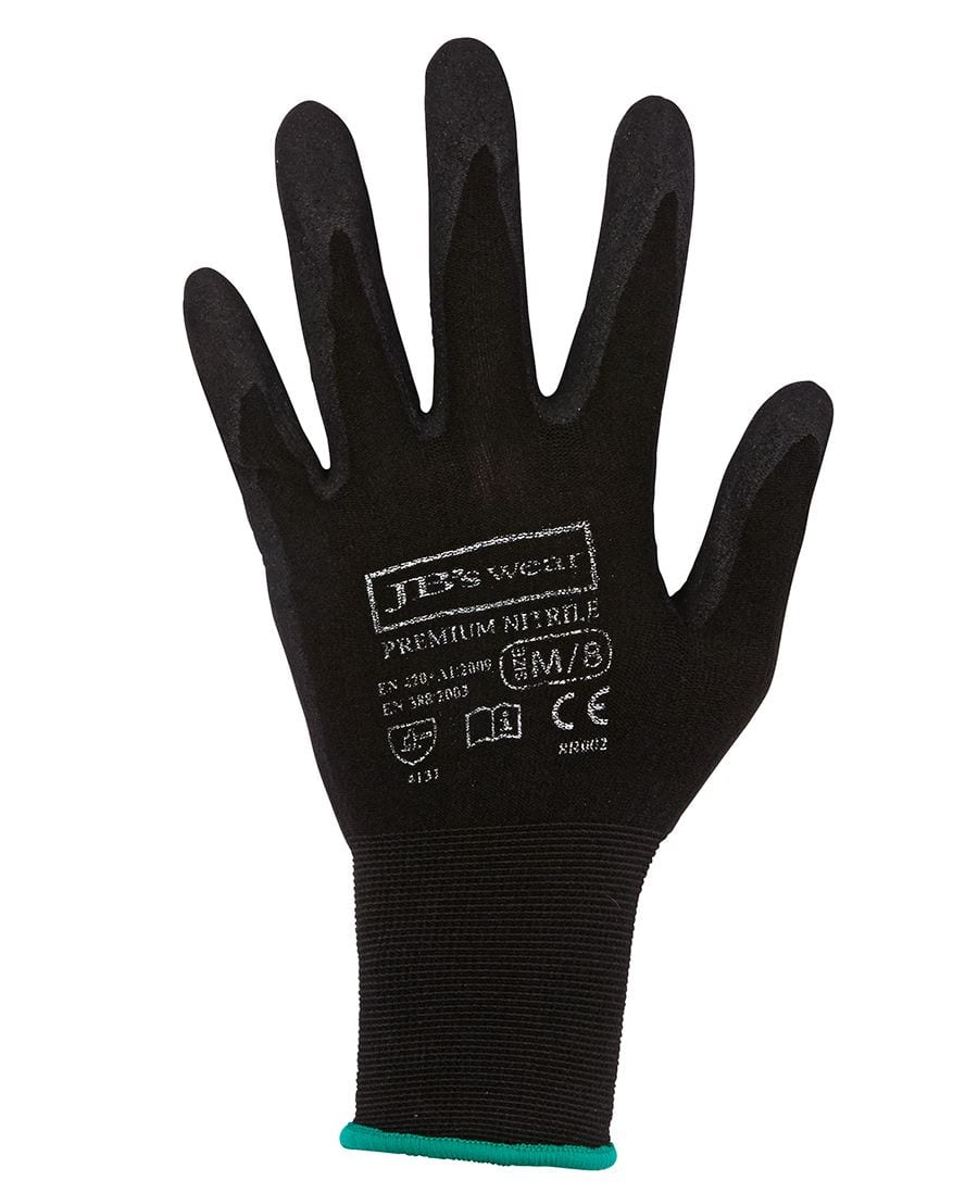 8R002 Premium Black Nitrile Breathable Glove