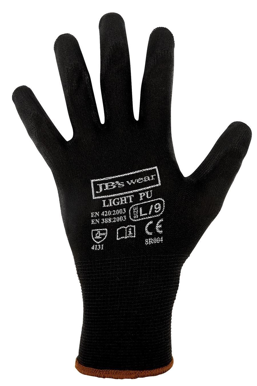8R004 Black Light PU Breathable Glove