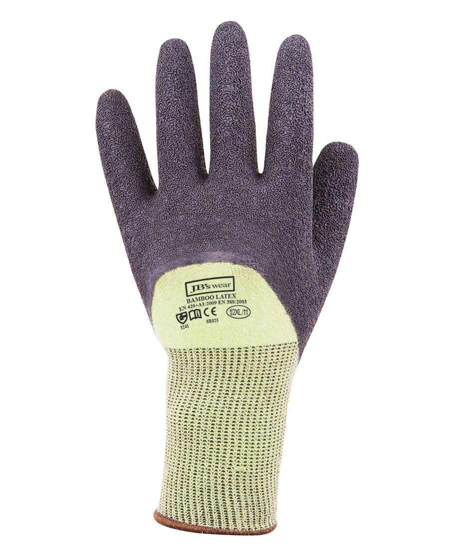 8R025 Bamboo Latex Crinkle 3/4 Dipped Glove
