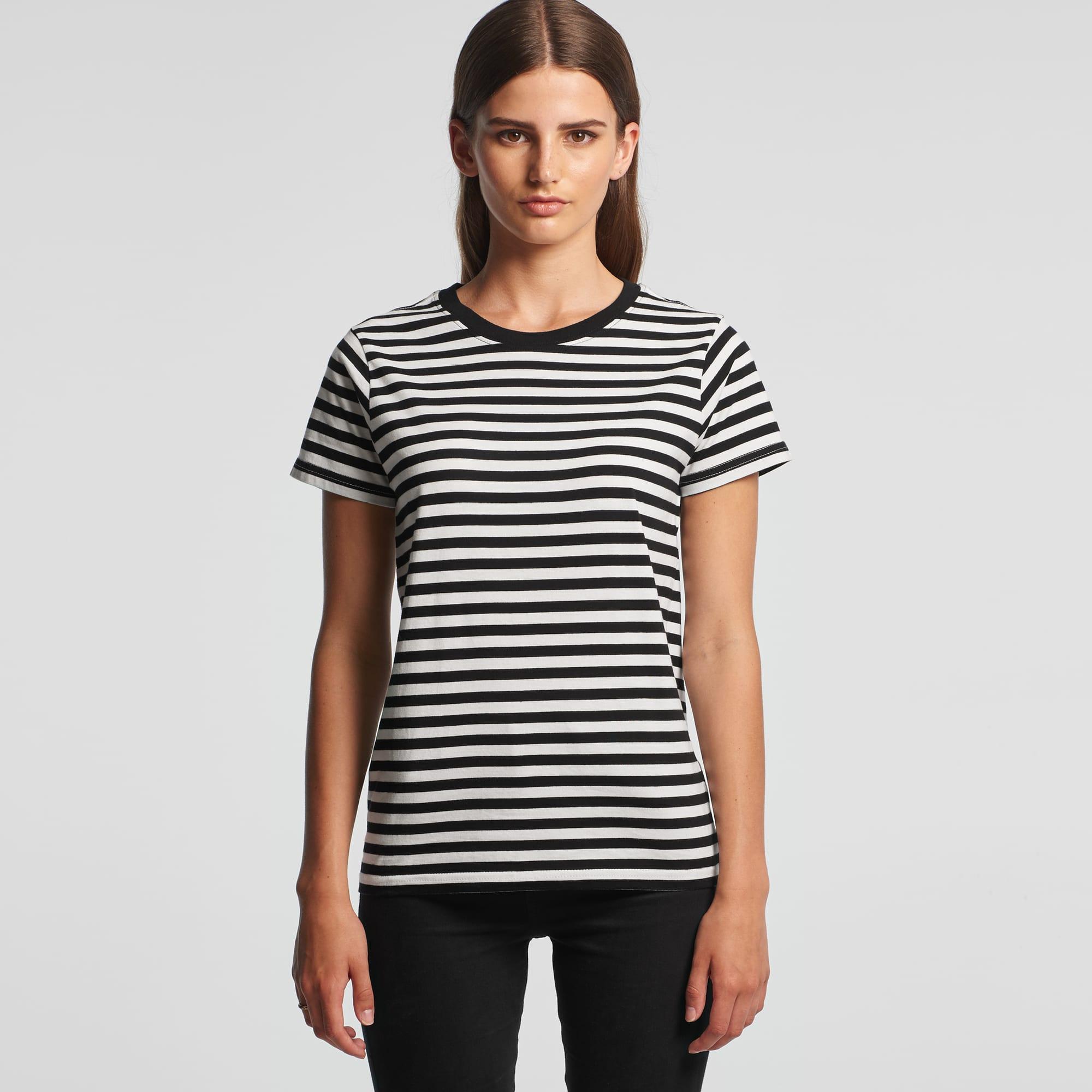 AS 4037 Womens Stripe Tee