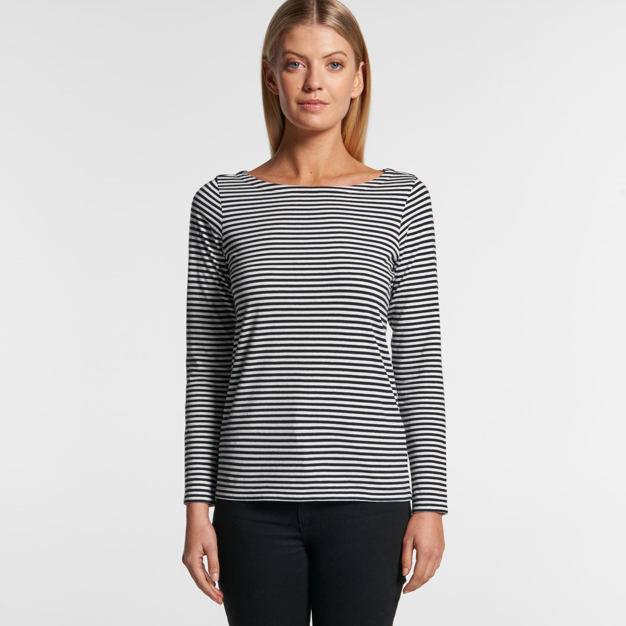 AS 4061 Womens Bowery Stripe L/S Tee